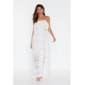 Nasty Gal In Lace of Emergency Maxi Dress White SM